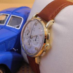 Omega 18 k 750er Gelbgold Chronograph 1946