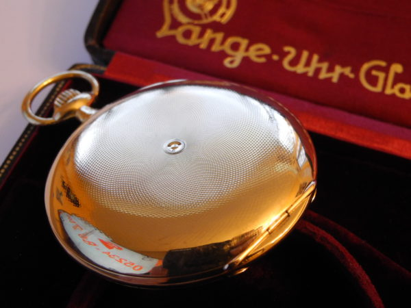 Lange & Söhne  1 A Taschenuhr  18 K 750 gold