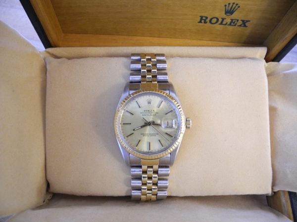 Rolex Oyster Perpetual Datejust Herrenuhr Stahl/Gold