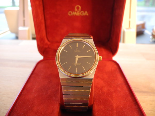 Omega Constellation Quarz Vintage Stahl/18 K Gold / Batterie Neu + Box