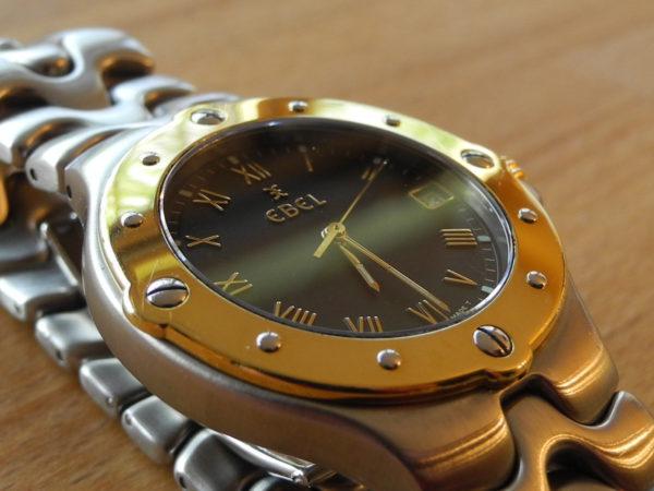 EBEL Sportwave Luxusuhr Quarz 36 mm 18 K Gold Lunette
