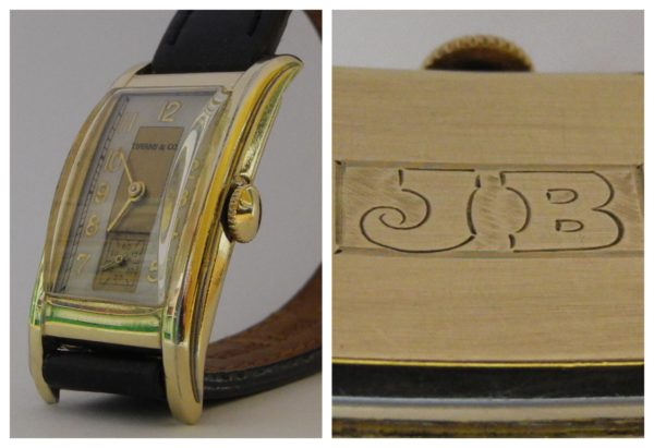 Tiffany & Co Art Deco Curvex Herrenuhr Handaufzug 14 K Goldfilled