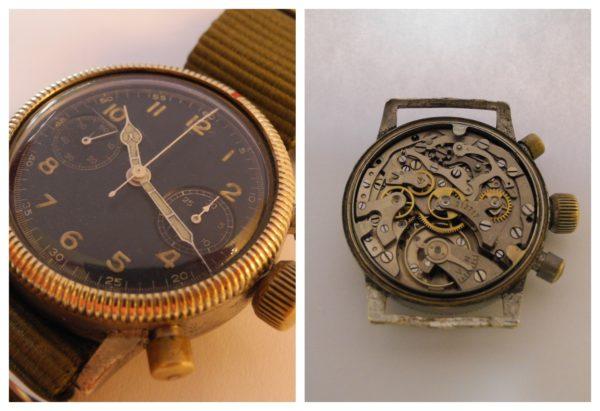 Tutima Glashütte military Flieger Chronograph Cal 59 WW II WK II radium