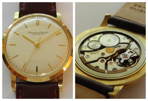IWC Referenz 1405 Vintage 18 k 750 Gold Herrenuhr Cal 402  ca.1966