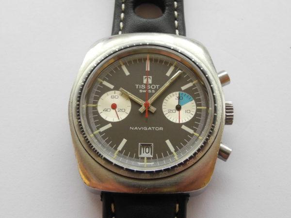 TISSOT SEASTAR NAVIGATOR Vintage CHRONOGRAPH Valjoux 7734 Handaufzug 1970er / Preis gegen Gebot