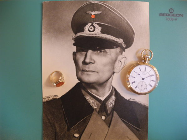 A. Lange & Söhne 18 K 750 golden pocket watch quality 1A quarter-repeater WWII German Colonel General Adolf Strauß`s brother Major General Heinrich Strauß P.O.R.
